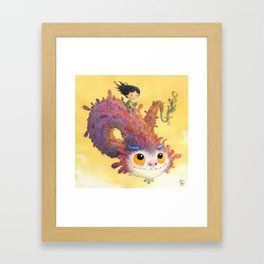 The Girl and the Book Framed Art Print