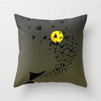 bats Throw Pillows featuring Bats by Badamg