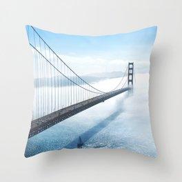 golden gate bridge river Throw Pillow