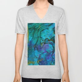 Multicolored marble ii Unisex V-Neck
