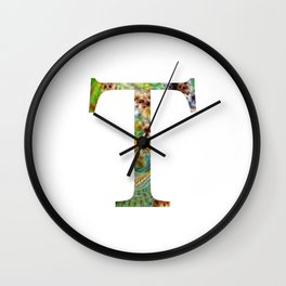 "Initial letter ""T"" Wall Clock"