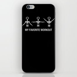 My favorite workout - Funny Wine Training iPhone Skin