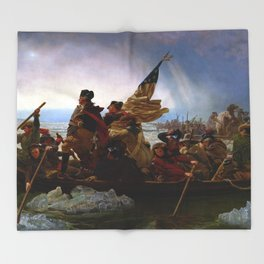 Washington Crossing the Delaware by Emanuel Leutze (1851) Throw Blanket