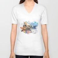 underwater V-neck T-shirts featuring Underwater by Allison Reich