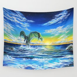 Ascending Tides Wall Tapestry