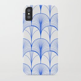 Art Deco Blue #pattern #illustration iPhone Case