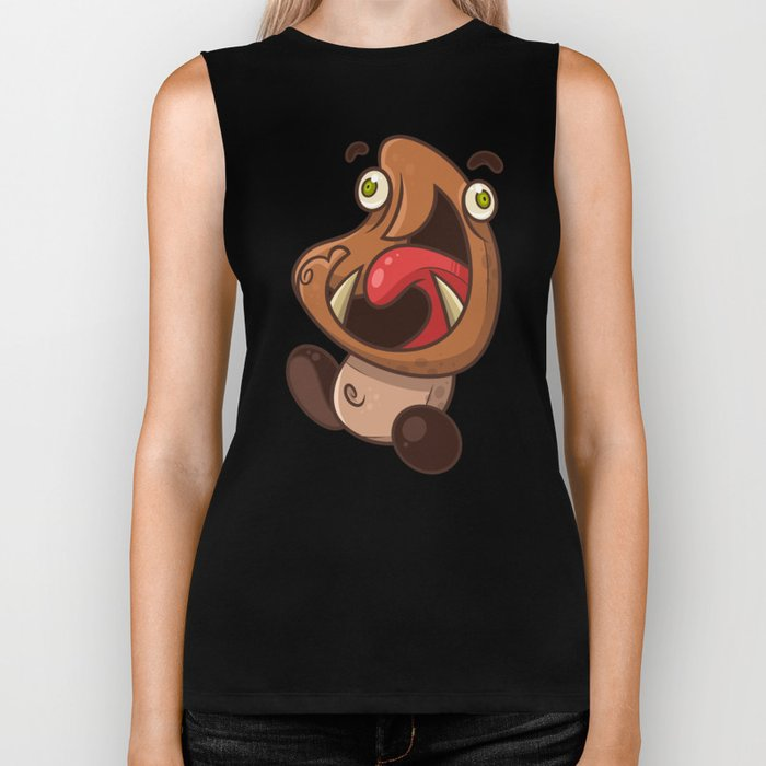Excited Goomba Biker Tank
