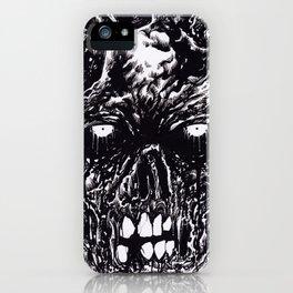 Black Zombie Rotten iPhone Case