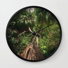 Screw Pine Trees Wall Clock