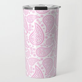 Paisley (Pink & White Pattern) Travel Mug