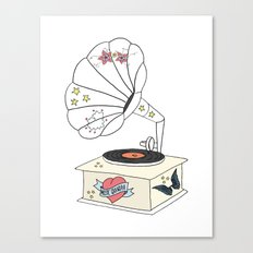 Music grandpa Canvas Print