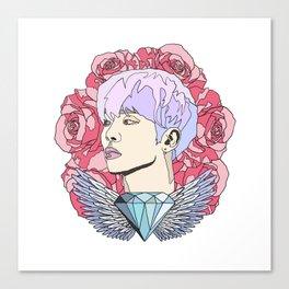 Roses for Jonghyun. Canvas Print
