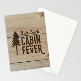 Lets Catch Cabin Fever Stationery Cards