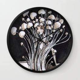 Empire of Mushrooms: Flammulina Velutipes Wall Clock