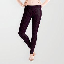 Purple Thistle Damask Leggings