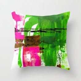 Teal Splendor No.1n by Kathy Morton Stanion Throw Pillow
