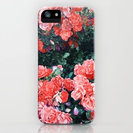 Psychedelic summer florals iPhone Case