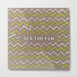 Sea for fun (brown) Metal Print
