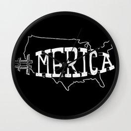 Merica : Black & White Wall Clock