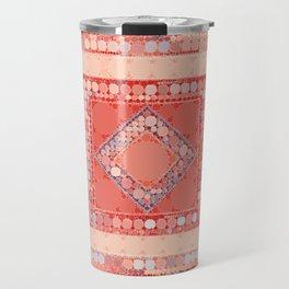 Multicolor Abstract Geometric Design Travel Mug