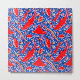 Sea Shapes (Vibrant) Metal Print