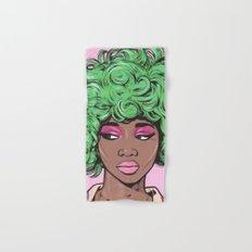 Green Kawaii Comic Girl Hand & Bath Towel