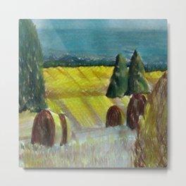 Harvest Field Metal Print