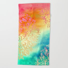 Watercolor Wonderland Beach Towel