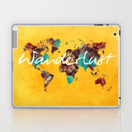 world map 123 wanderlust #wanderlust #map Laptop & iPad Skin