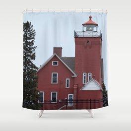 Two Harbors Light Shower Curtain