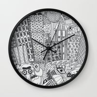 rush Wall Clocks featuring Rush Hour by farsidian