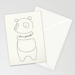 Love Yourself Panda Stationery Cards