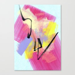 Abstract Painting Modern Art Expressionism - Believe Your Paths no.6 Canvas Print
