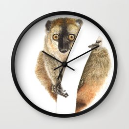Hanging with a Lemur Wall Clock