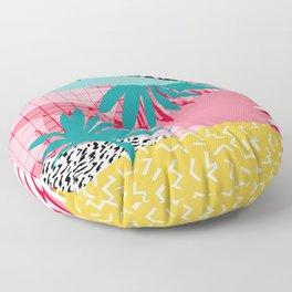 Bingo - throwback retro memphis neon tropical socal desert festival trendy hipster pattern pop art Floor Pillow
