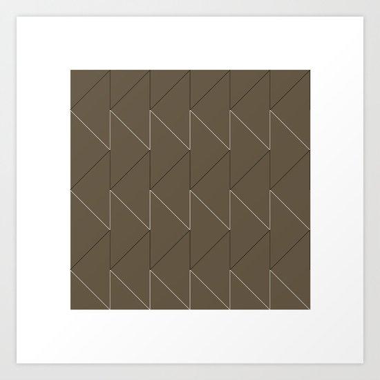 #168 Sawtooth – Geometry Daily Art Print