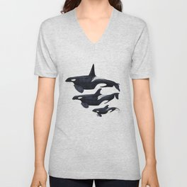 Orca (Orcinus orca) Unisex V-Neck