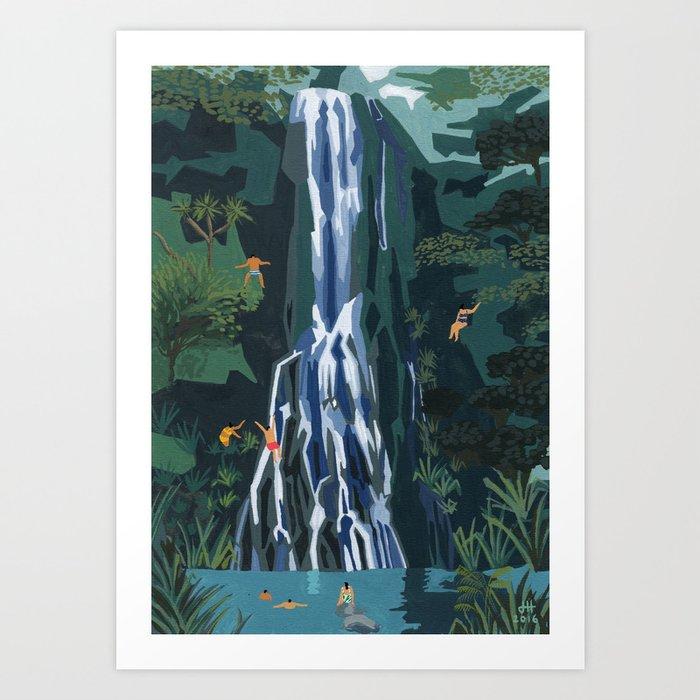 Waterfall stop Art Print