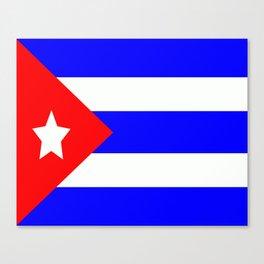 Flag of Cuba Canvas Print