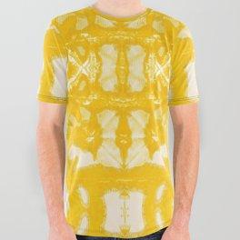 Yellow Oxford Shibori All Over Graphic Tee