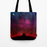 cancer Tote Bags featuring Cancer by bitterkiwi