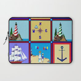 Another Nautical Quilt but with Compass Rose Laptop Sleeve