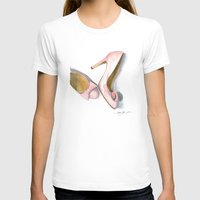bows T-shirts featuring Pink Bows by Anthony Billings