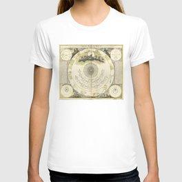 Constellations Diagram (1716) [Systema mundi Tychonicum] T-shirt