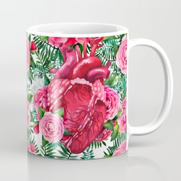 Watercolor heart with floral design Coffee Mug
