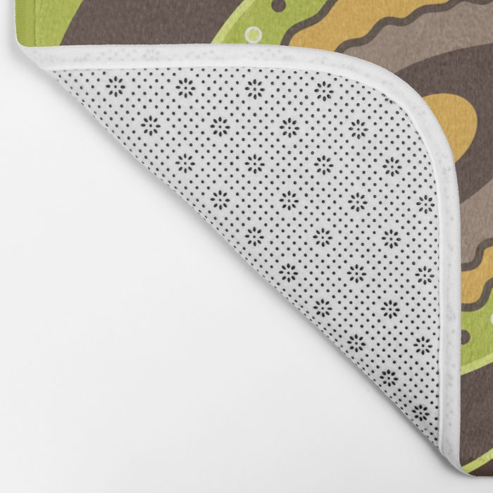 Paisley Green Pattern Bath Mat