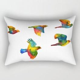 Rainbow Flight Rectangular Pillow