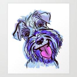 The Smiley Schnauzer Dog Love of my Life! Art Print