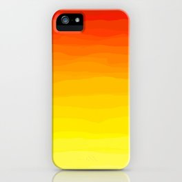 Red to Yellow Sunset iPhone Case