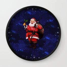 Santa Claus and his Sack of Gifts Wall Clock
